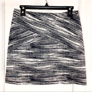 Navy Blue Marled Woven Skirt, Size S